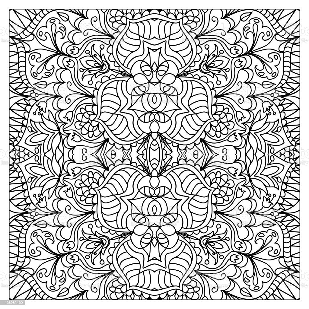 abstract coloring page stock vector art 493982460 istock