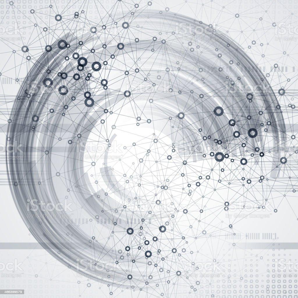 Abstract communication technology vector art illustration