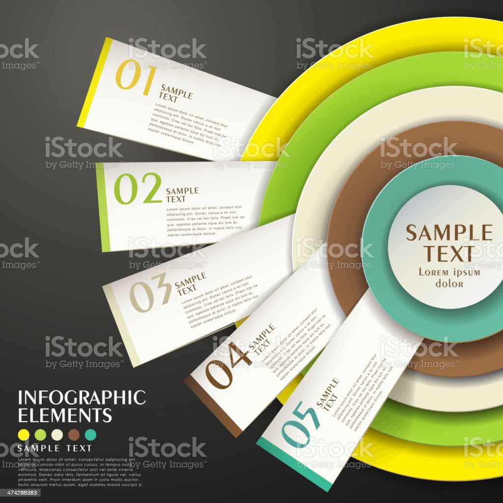abstract concentric chart infographics vector art illustration