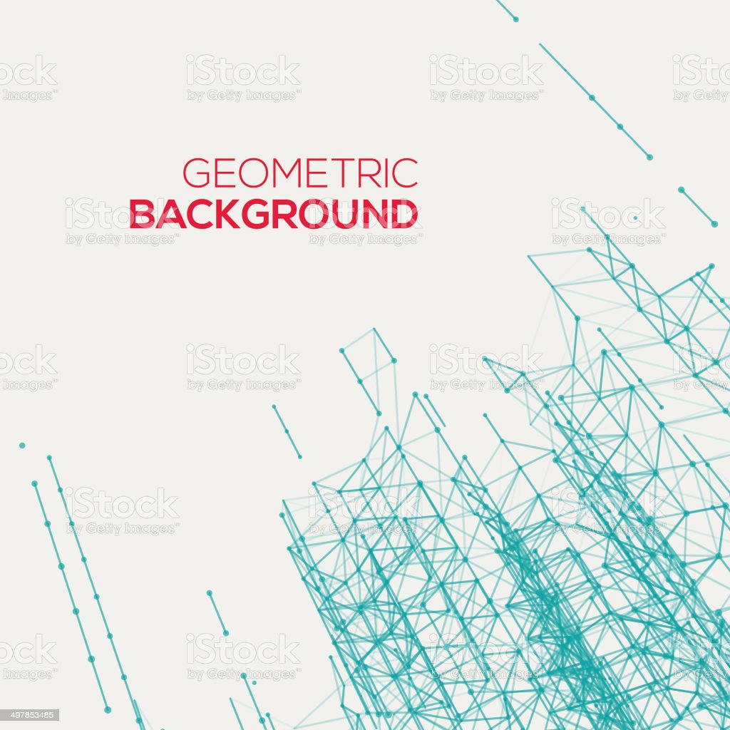 Abstract connect geometric background vector art illustration