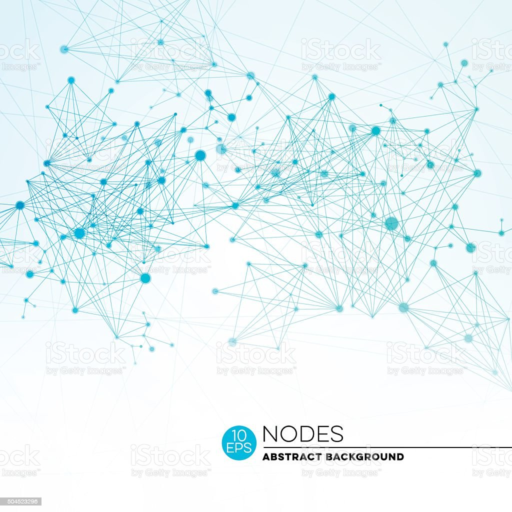 Abstract Connection Nodes Background vector art illustration
