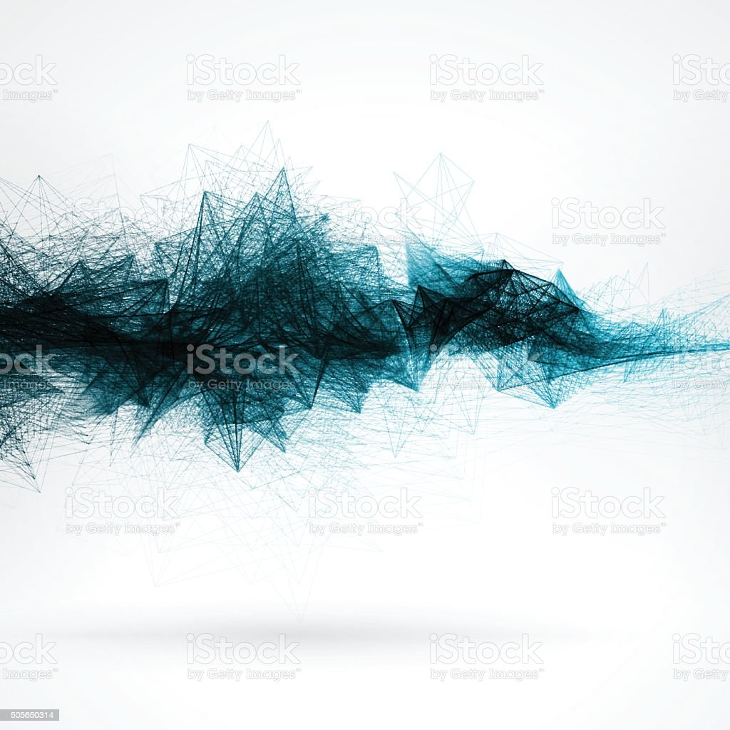 Abstract Connection Technology Background vector art illustration