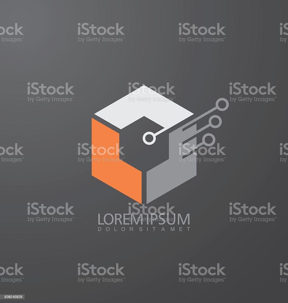 Abstract Construction vector logo design template vector art illustration