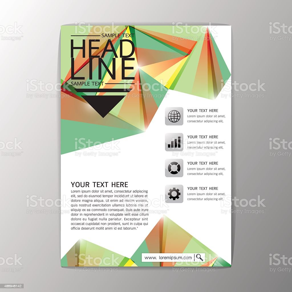 a abstract cover background geometric design brochure template 1 credit