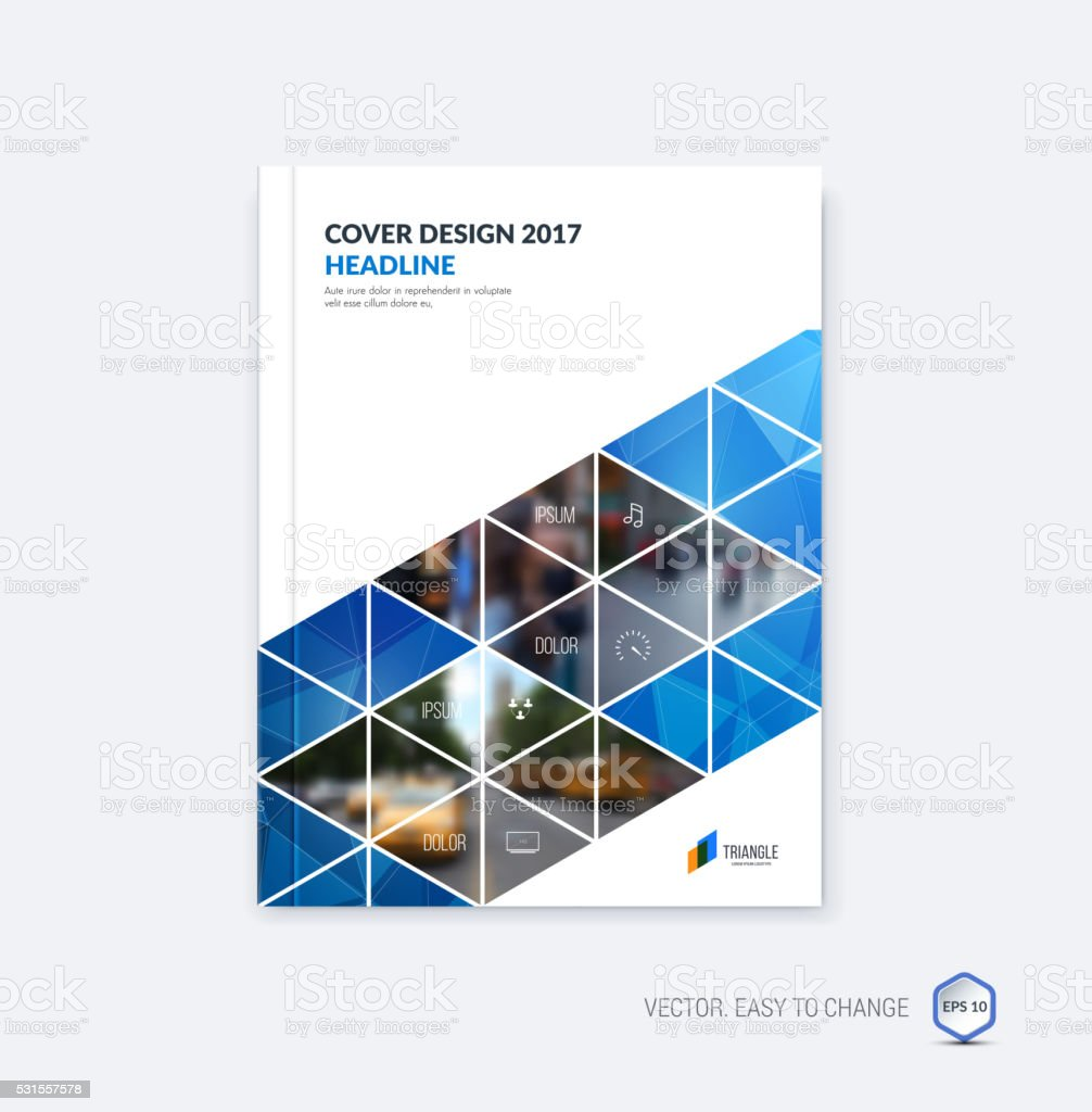 Abstract cover design, business brochure template layout, report vector art illustration