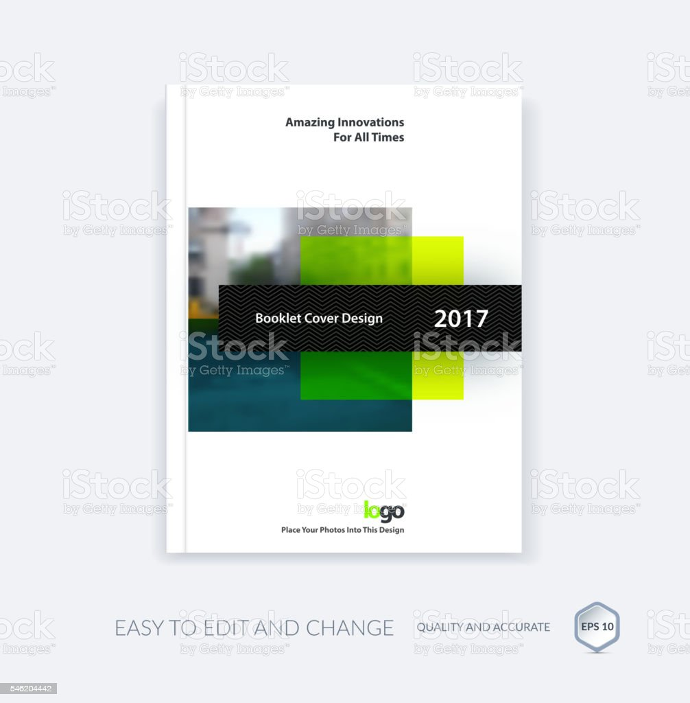 Abstract cover design template for annual report. Creative broch vector art illustration