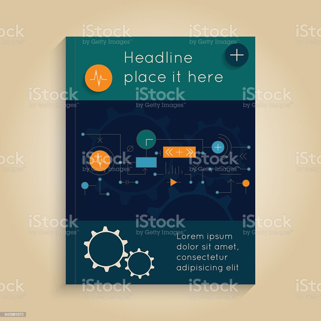 Abstract cover vector art illustration
