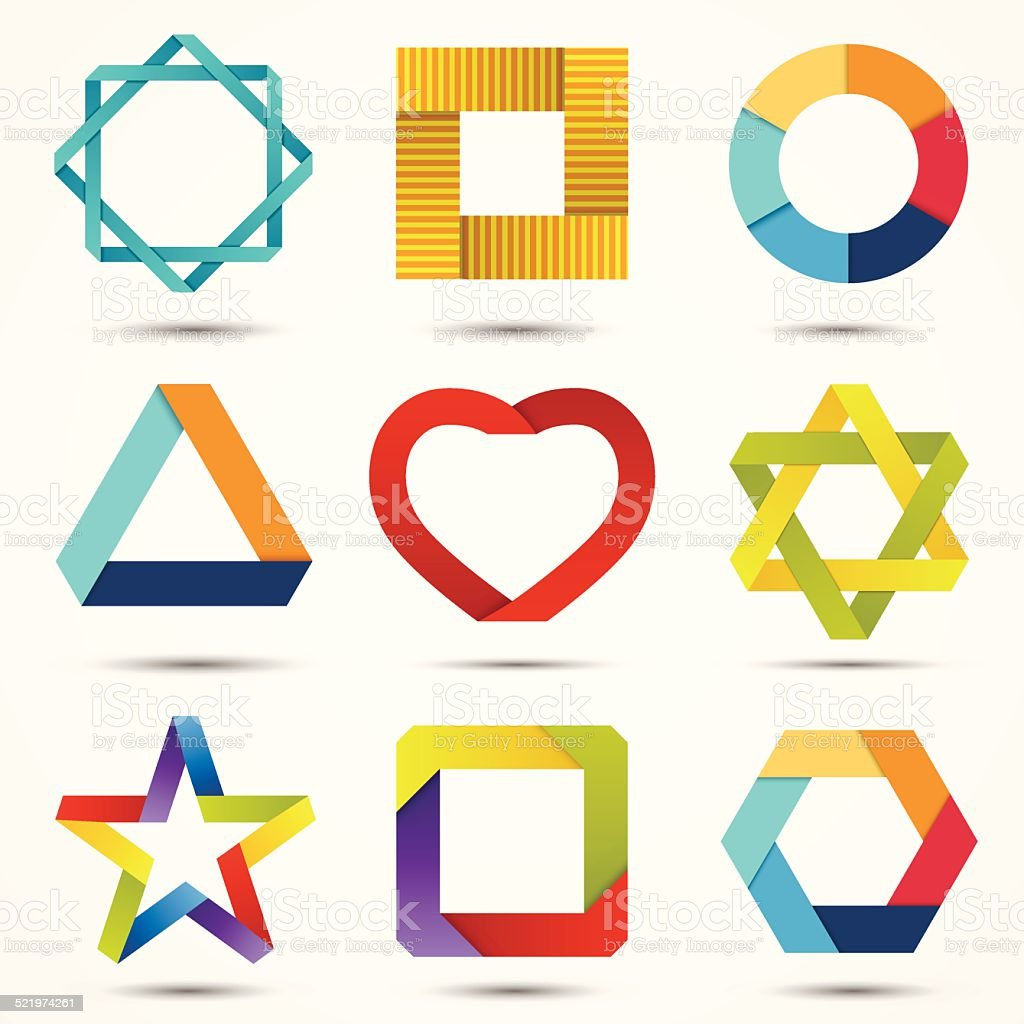 Abstract creative signs and symbols set. Logo template. vector art illustration