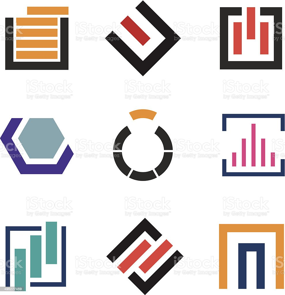 Abstract creativity for professional logo company icon set vector art illustration