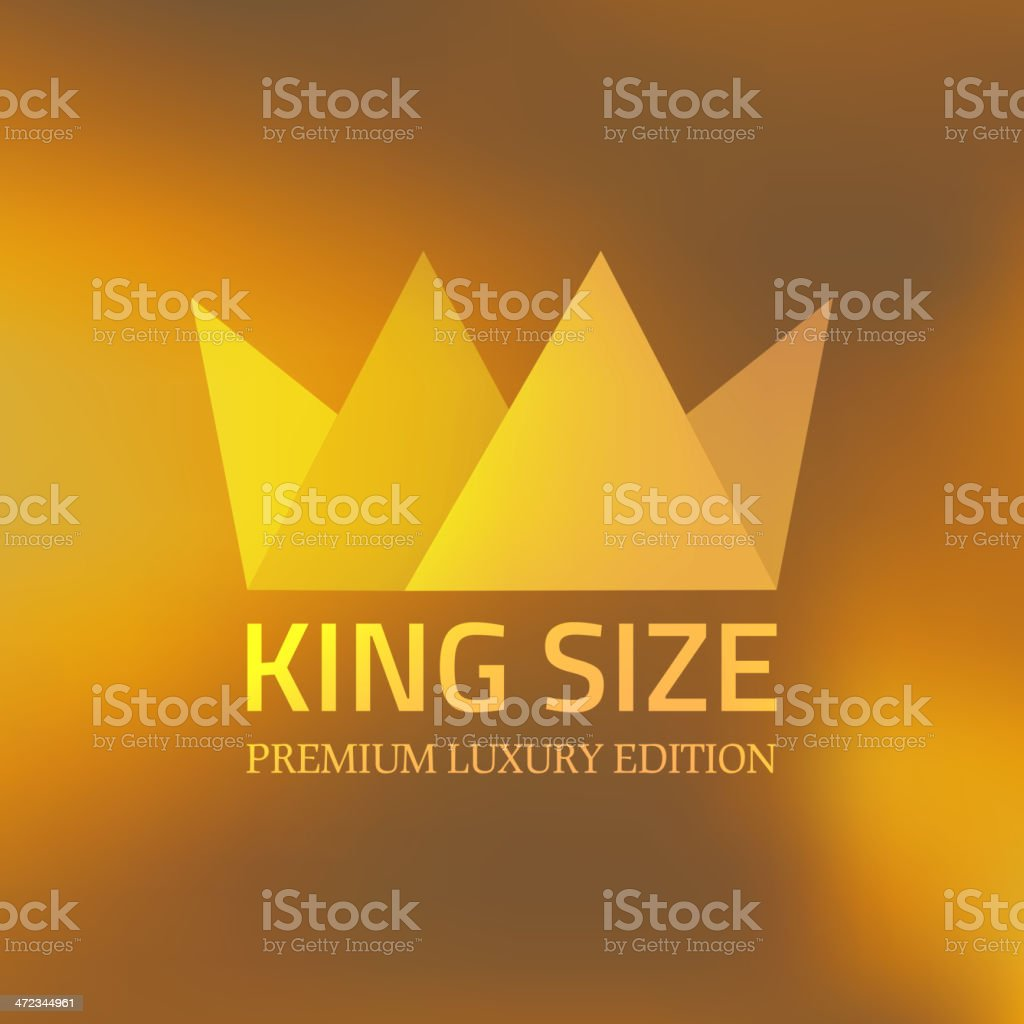 Abstract crown vector art illustration