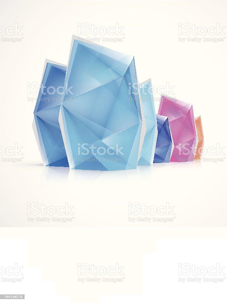 Abstract Crystal Diamond Ice vector art illustration