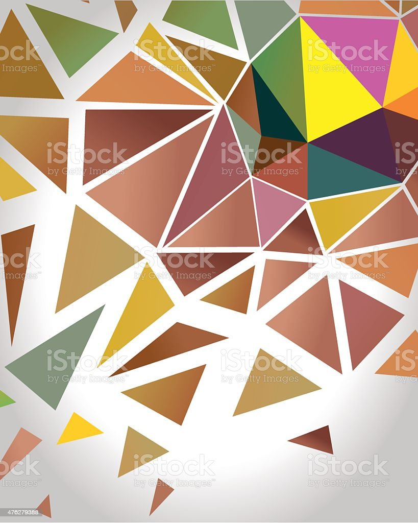 Abstract Crystal Polygon Background.  Vector vector art illustration