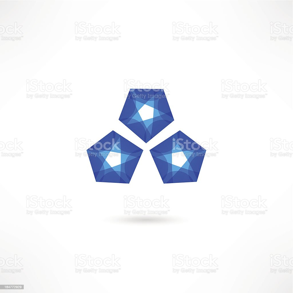 Abstract crystal. royalty-free stock vector art