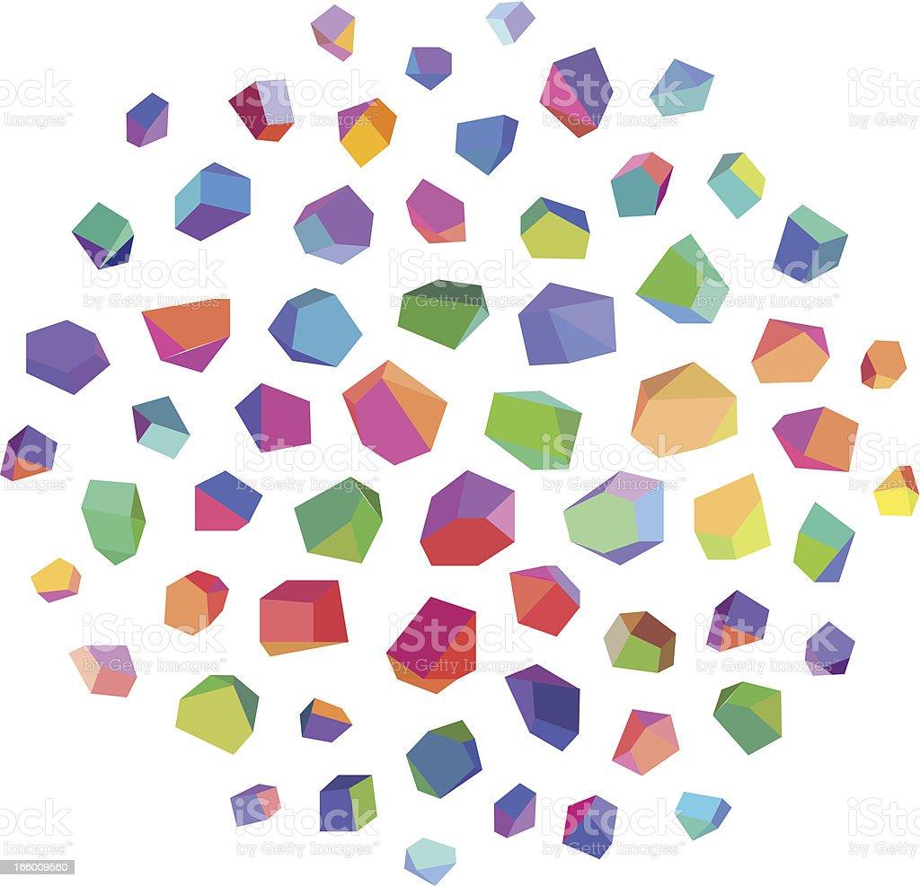 Abstract Crystals vector art illustration