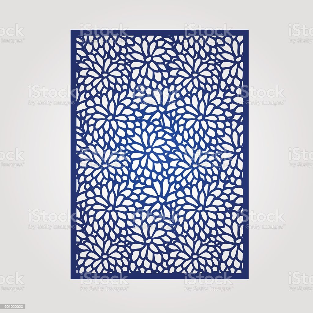 Abstract cutout panel for laser cutting, die  or stencil. vector art illustration