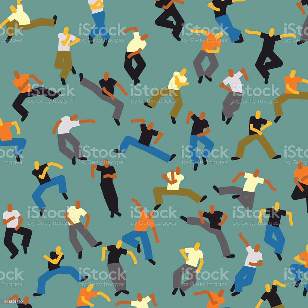 abstract dancer people pattern background royalty-free stock vector art
