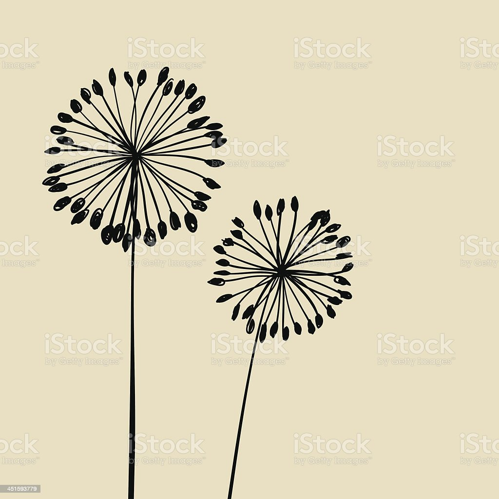 Abstract Dandalions background vector art illustration