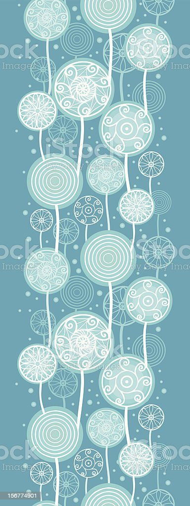 Abstract Dandelions Vertical Seamless Pattern Ornament royalty-free stock vector art