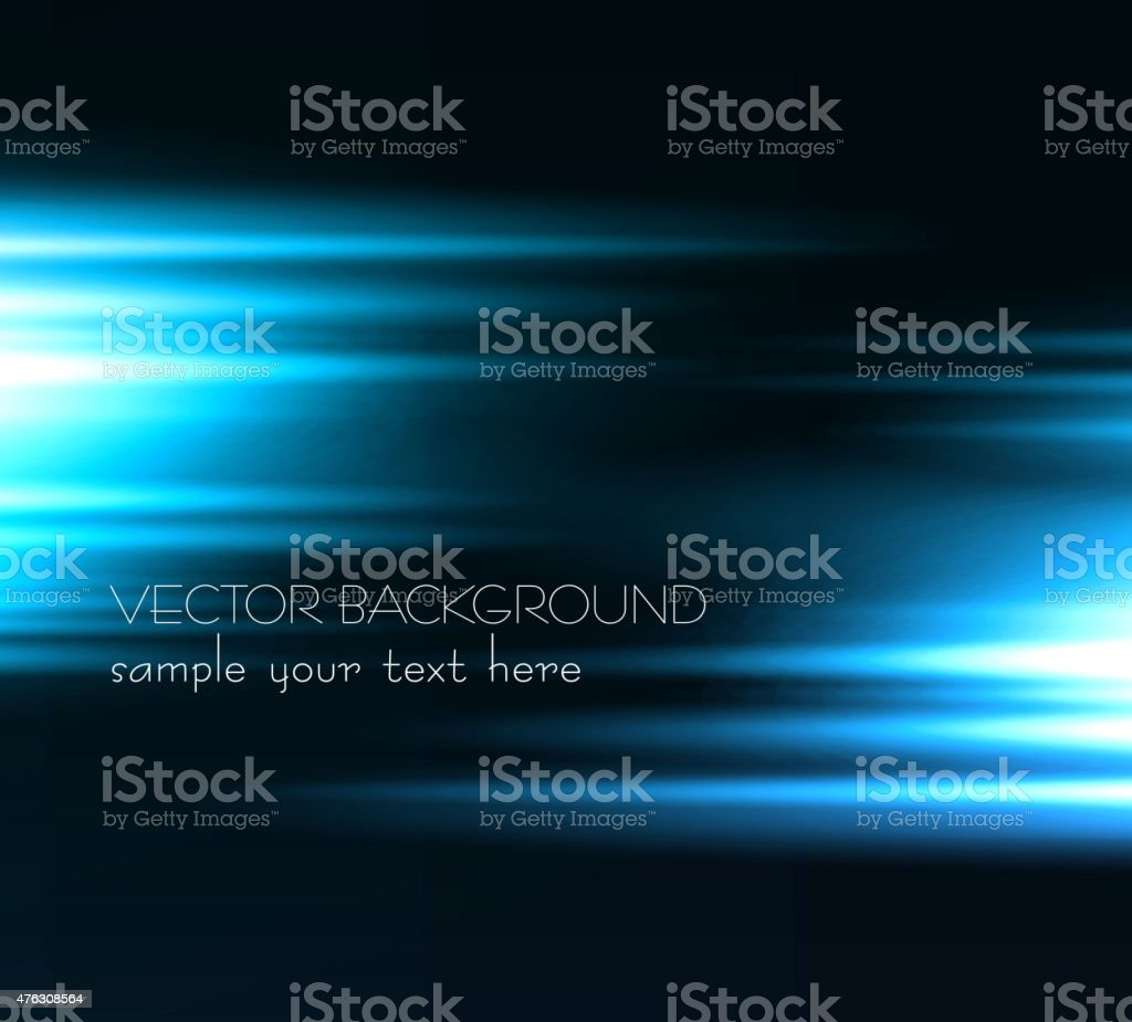 Abstract dark background with blue color light vector art illustration