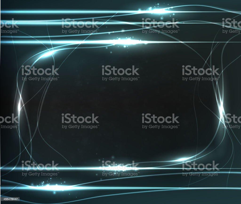 Abstract dark neon frame royalty-free stock vector art