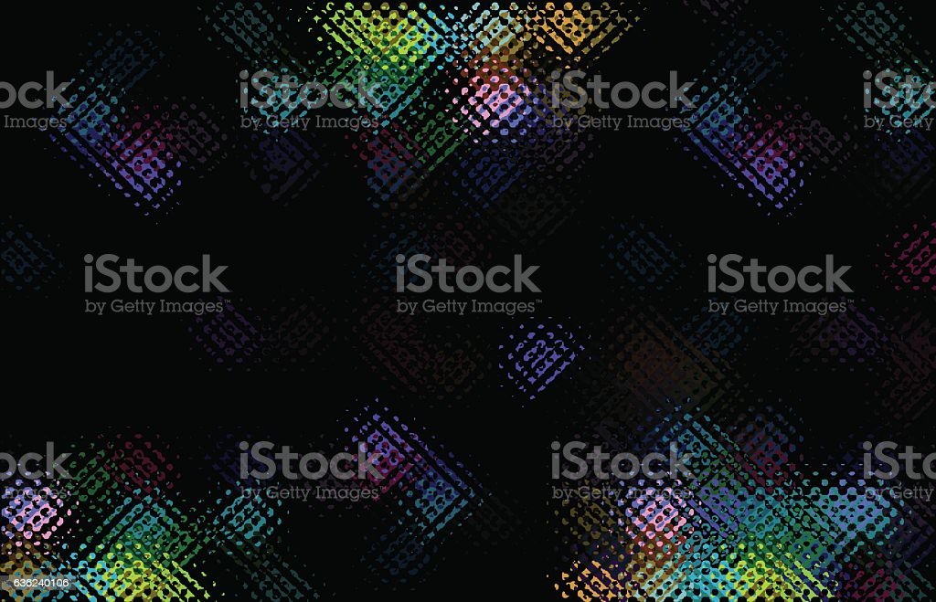 abstract dark pixelated  background vector art illustration