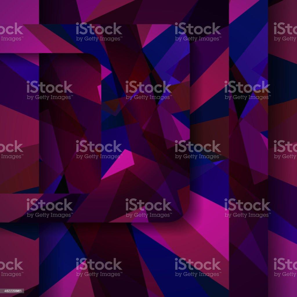 Abstract dark shape illustration royalty-free stock vector art