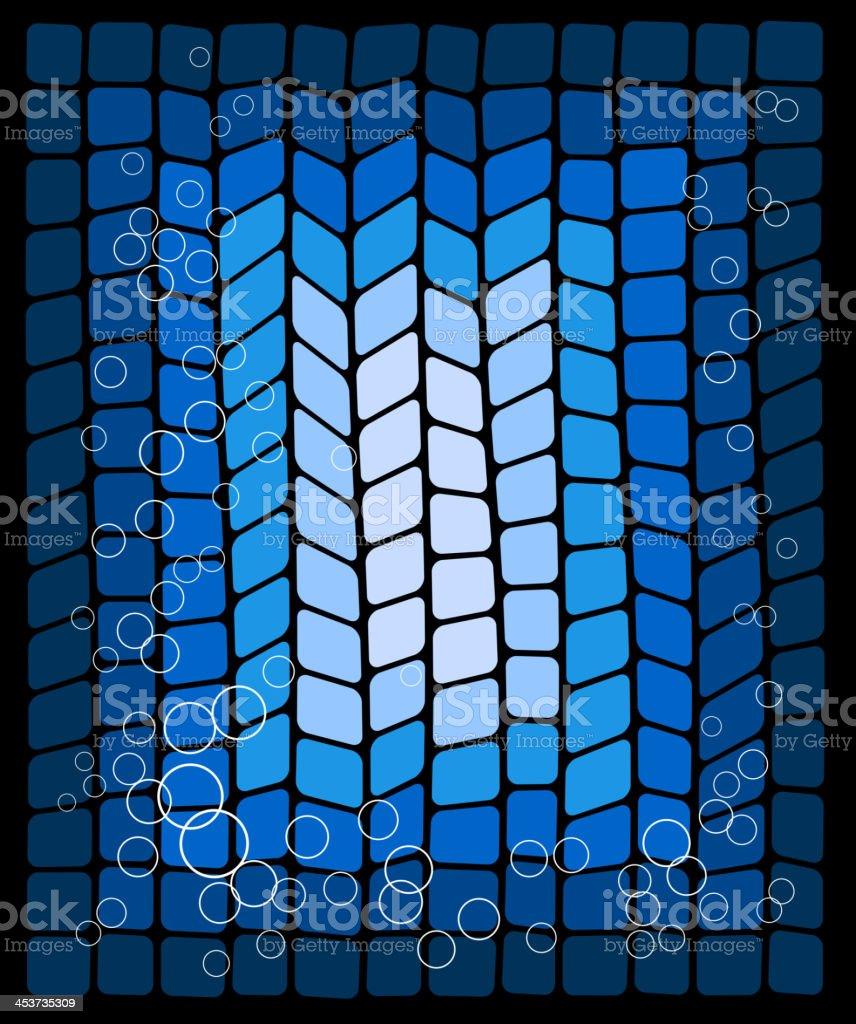 Decorativo Fondo abstracto azul illustracion libre de derechos libre de derechos