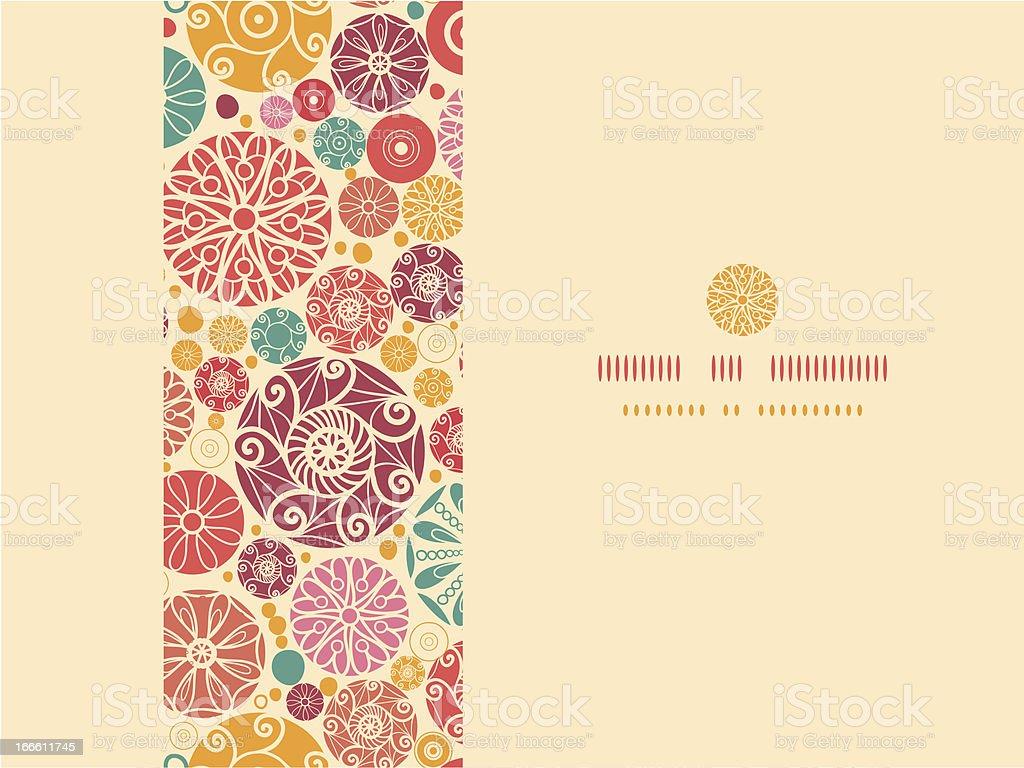 Abstract decorative circles horizontal seamless pattern background royalty-free stock vector art