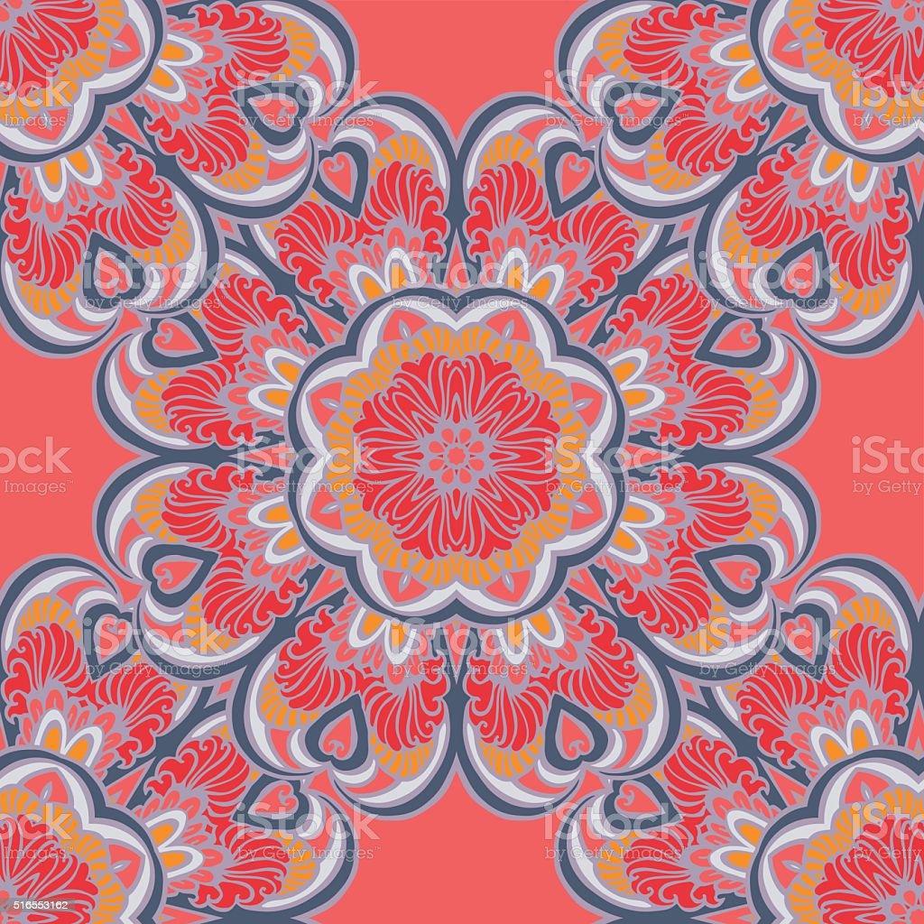 Abstract decorative ethnic geometric pattern vector art illustration