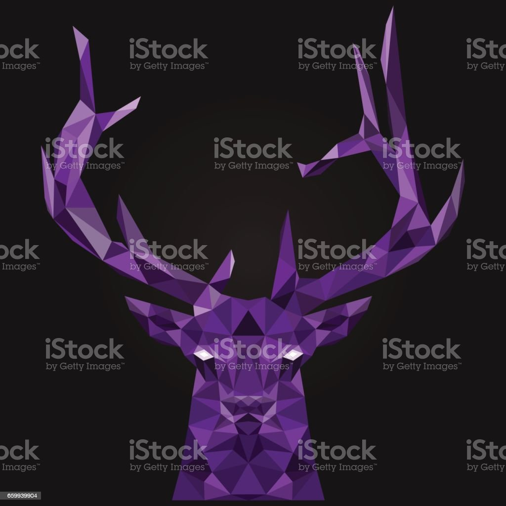 Abstract deer low poly. vector art illustration