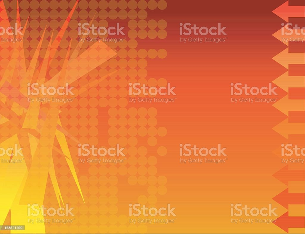 Abstract design background with arrows pointing left royalty-free stock vector art