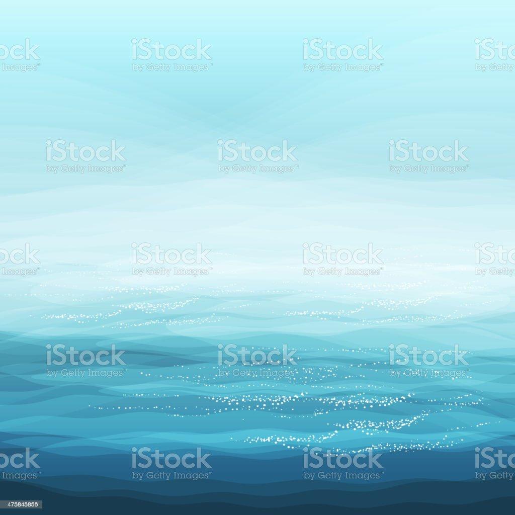 Abstract Design Creativity Background of Blue Sea Waves, Vector Illustration vector art illustration