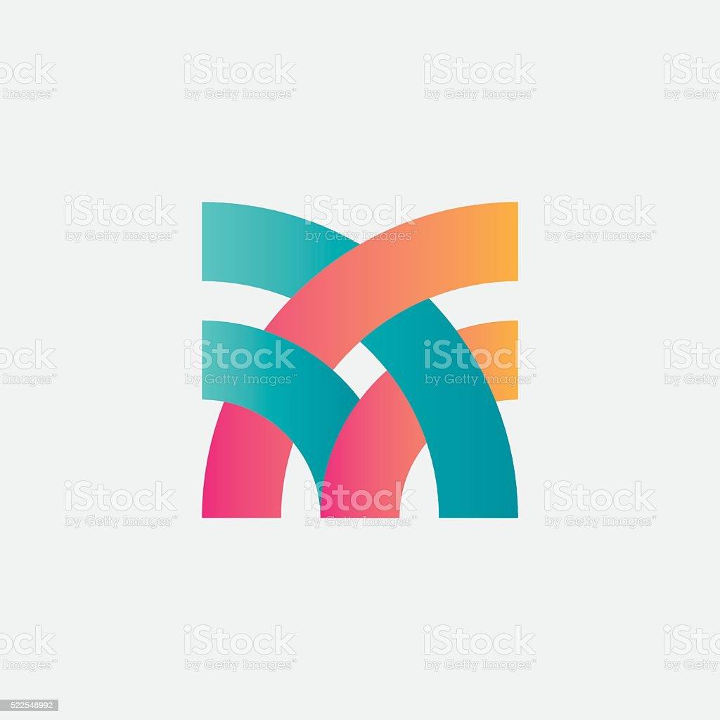 Abstract design element. vector art illustration