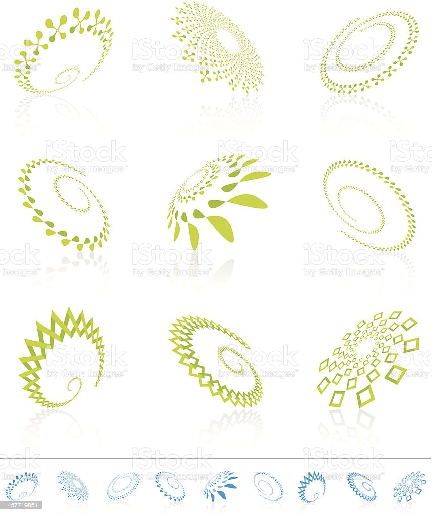 Abstract design elements in perspective vector art illustration