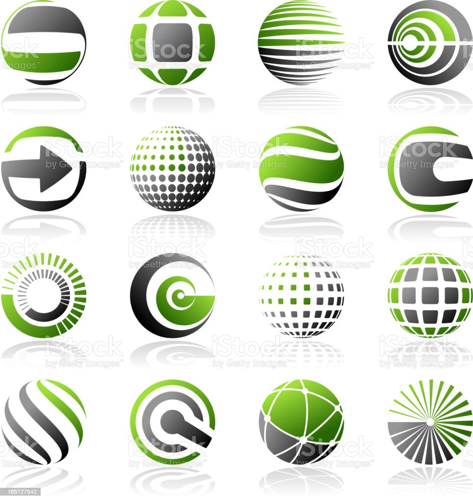 Abstract Design Elements vector art illustration