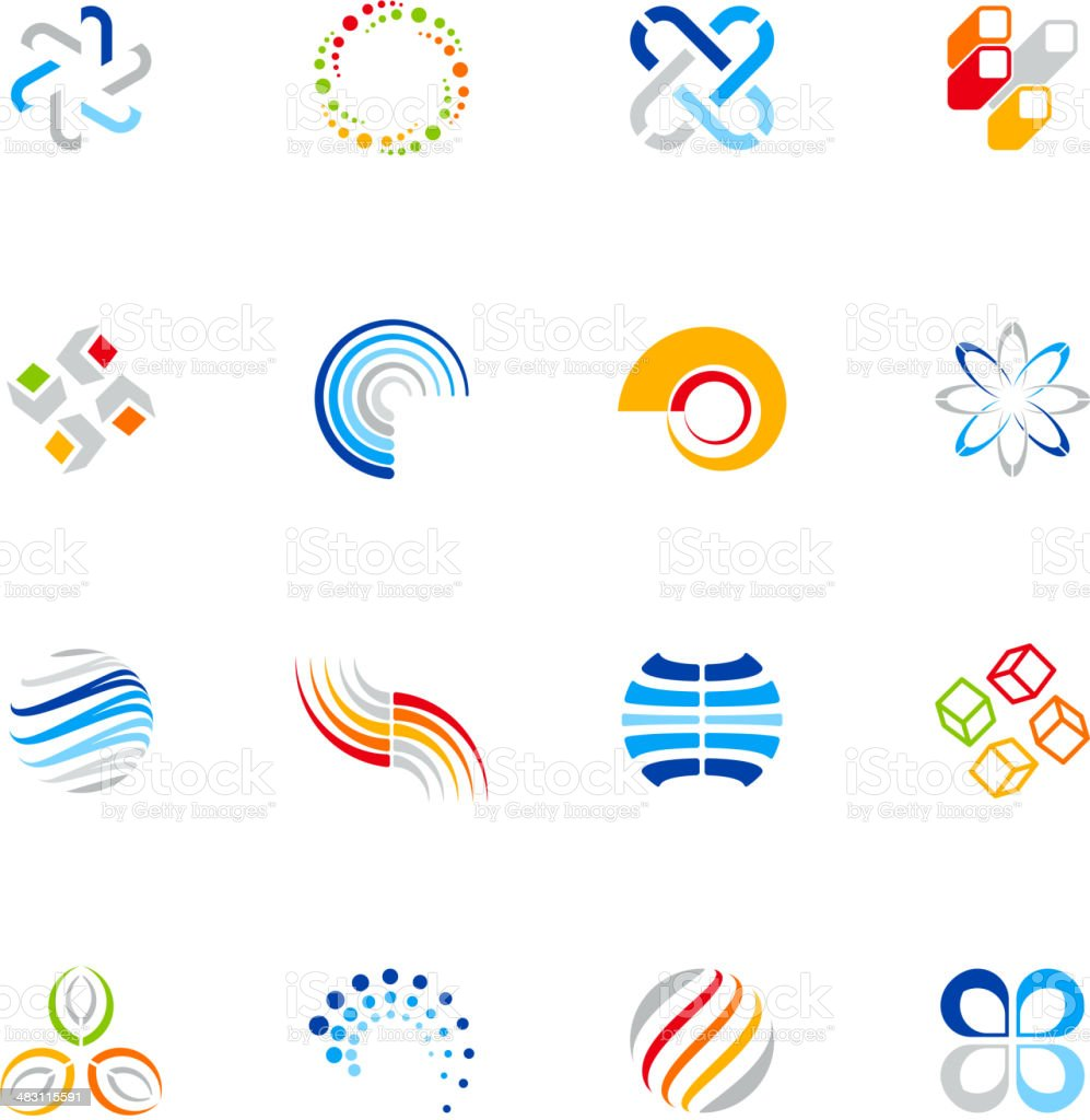 Abstract Design Elements vector art illustration