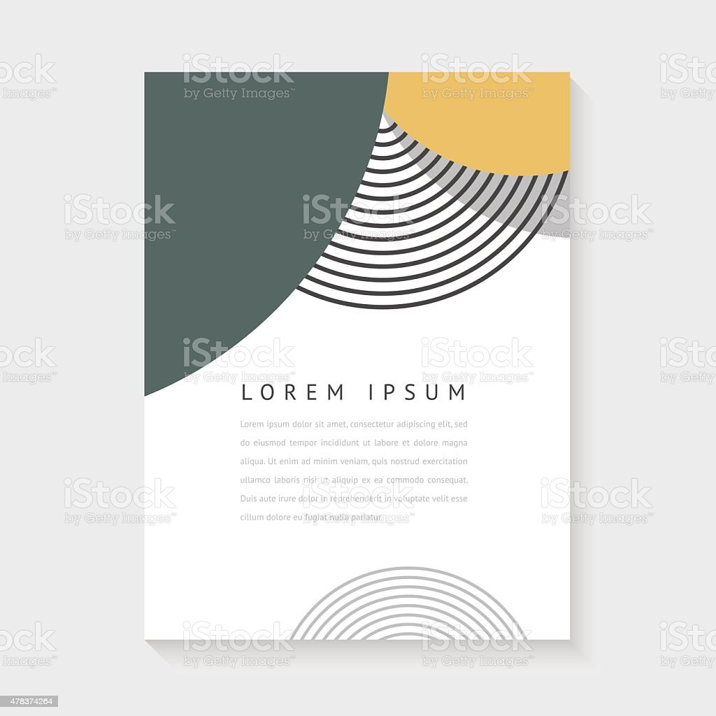 Abstract design for poster or brochure vector art illustration