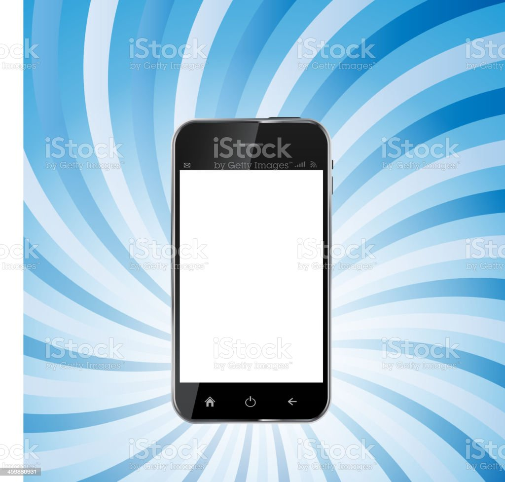 Abstract Design Realistic Mobile Phone with Blank Screen.Vector royalty-free stock vector art