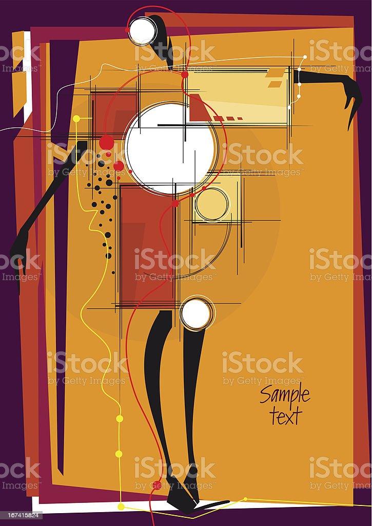 Abstract design with girl. royalty-free stock vector art