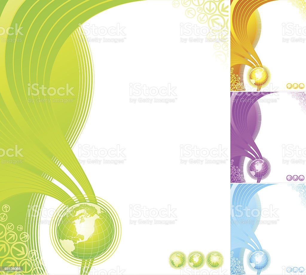 Abstract design with globe. royalty-free stock vector art