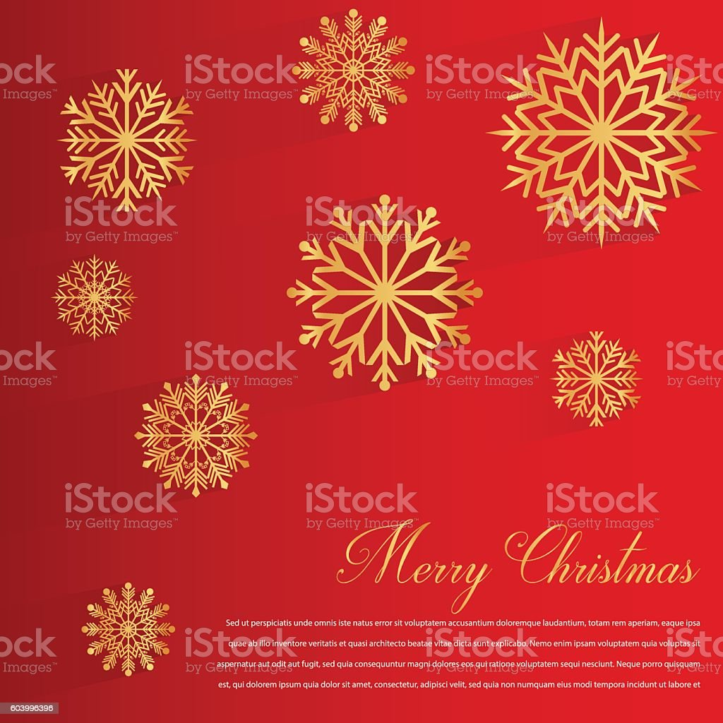 Abstract design with Snowflakes and Merry Christmas wishes royalty-free stock vector art