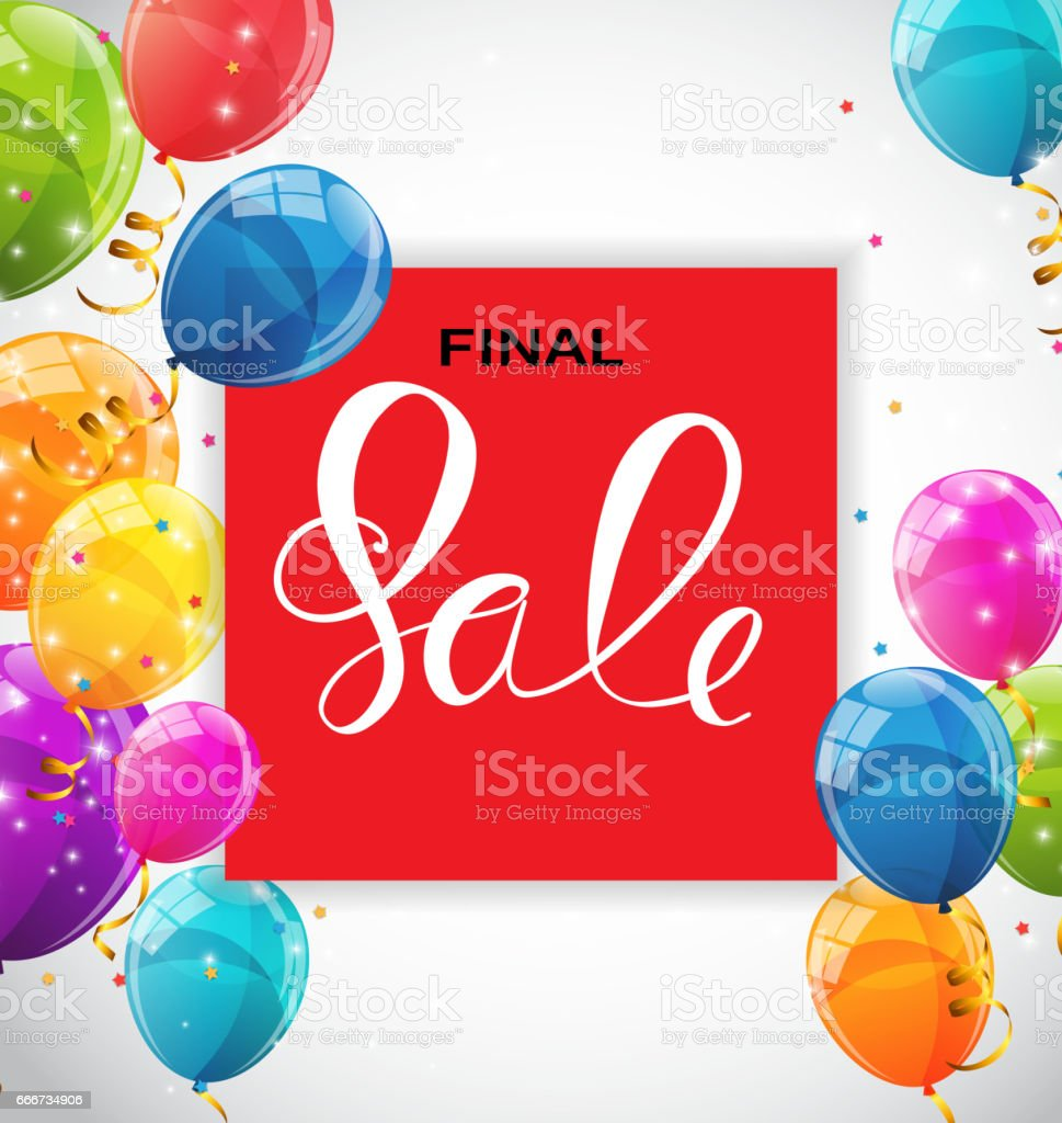 Abstract Designs Final Sale Banner Template with Frame. Vector I vector art illustration