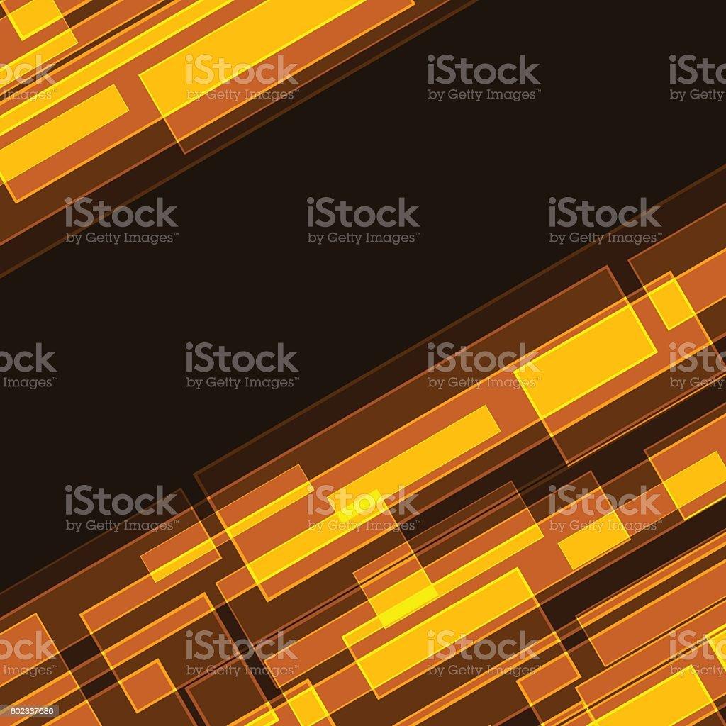 Abstract diagonal orange rectangles vector art illustration