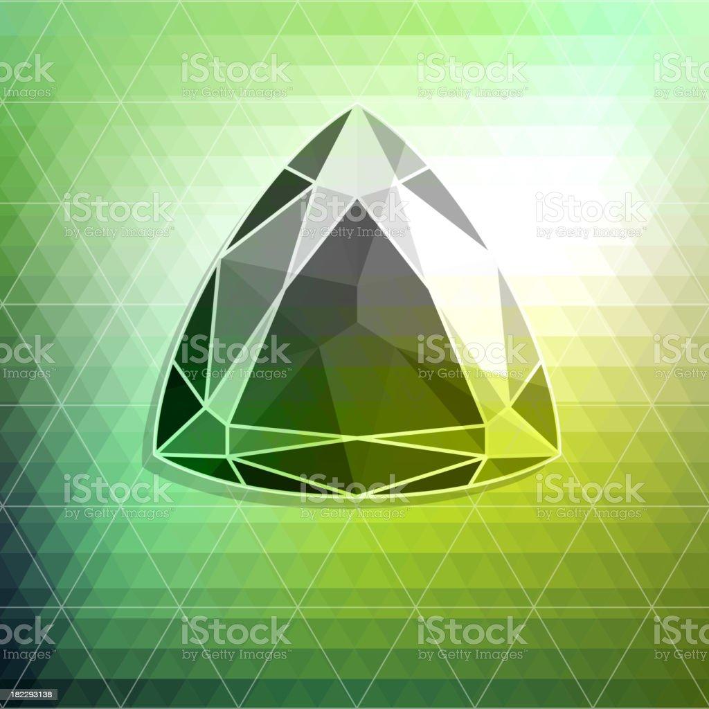 Abstract diamond background vector art illustration