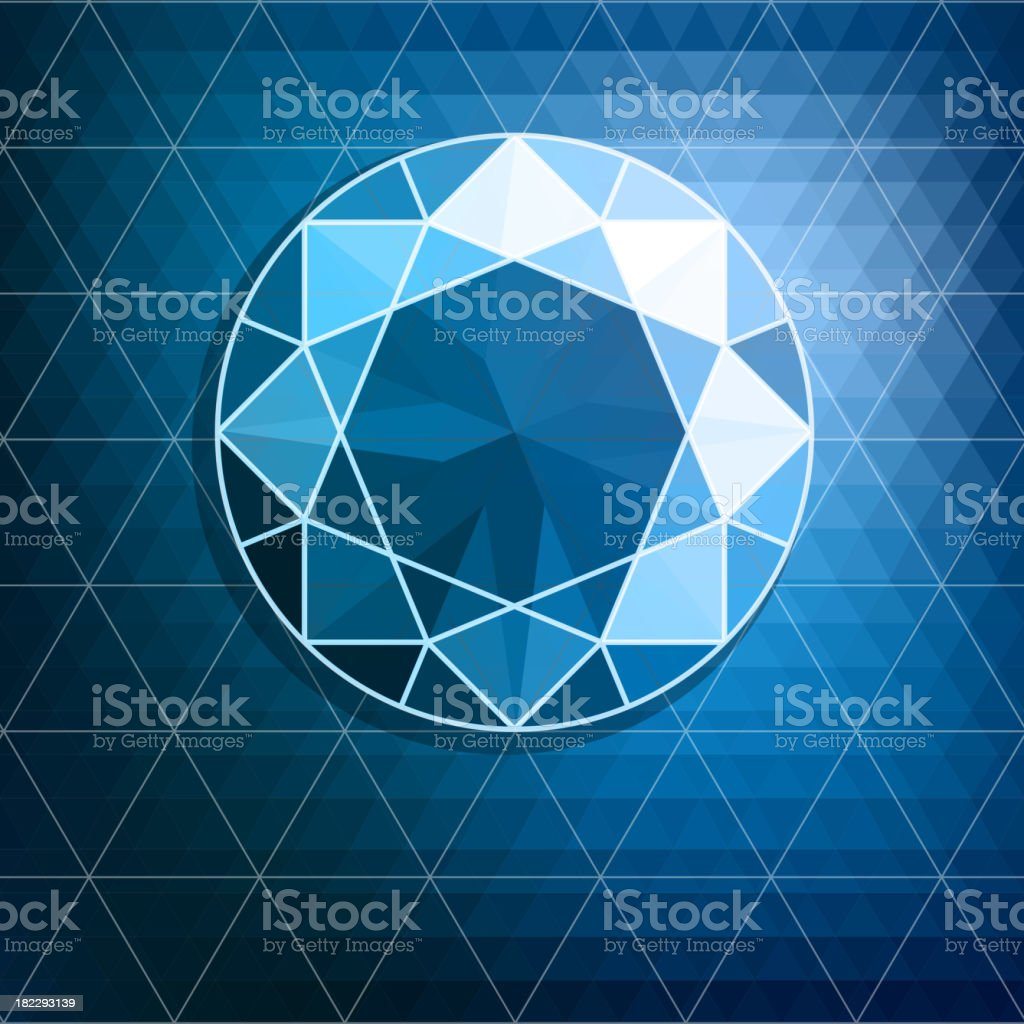 Abstract diamond background royalty-free stock vector art