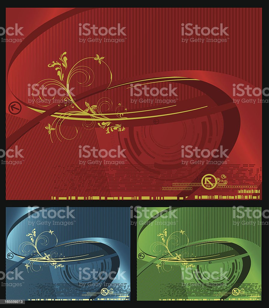 Abstract Digital Backgrounds Series royalty-free stock vector art