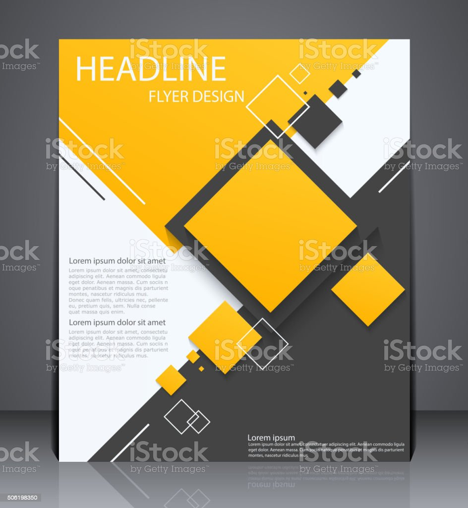 Abstract digital business brochure flyer vector art illustration