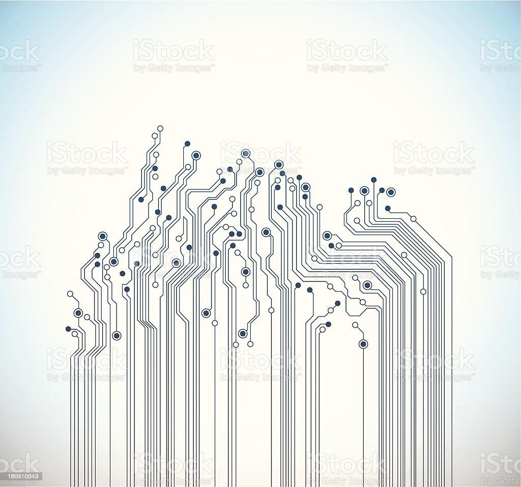 Abstract digital circuit background - vector vector art illustration