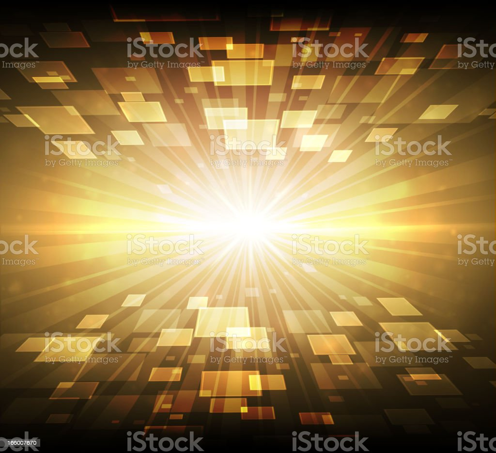 Abstract digital exploding background royalty-free stock vector art