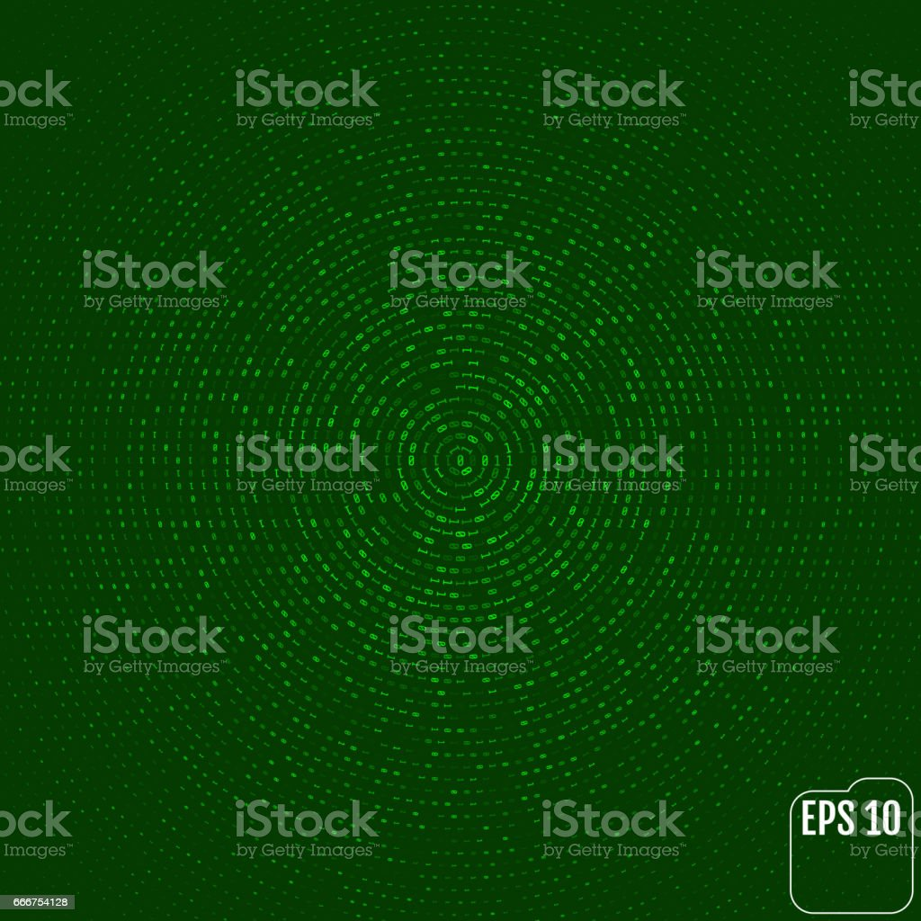 Abstract digital science fiction matrix like background vector art illustration